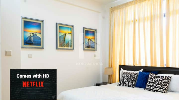 Homely 2 Bedroom Apartment in Cantonments +Netflix
