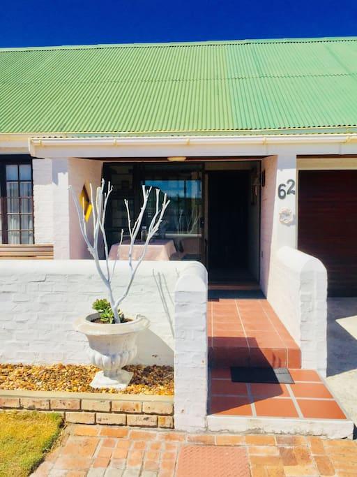 Front veranda of house with lobby/foyer entrance