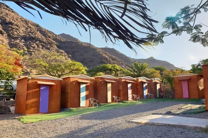 Mini cabaña de playa