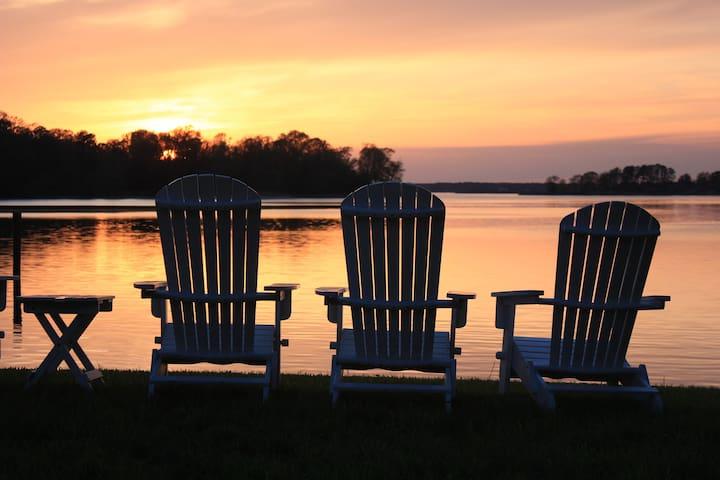 Enjoy sunset on the adirondaks