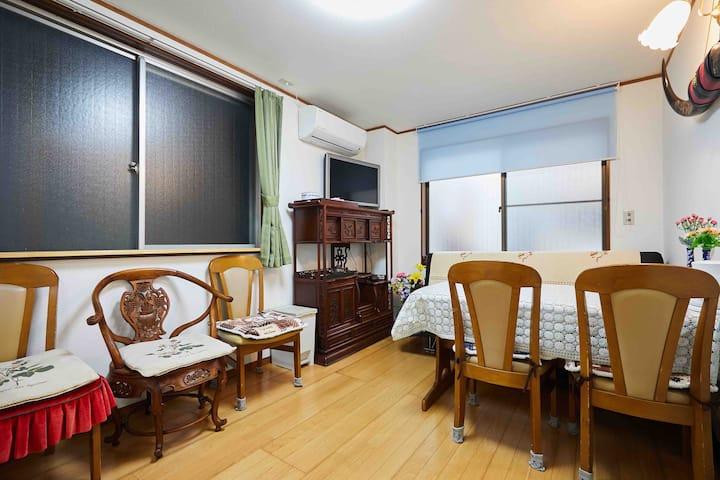 江東宾馆东京中心别墅家庭住宅距离迪尼斯乐园、東京站台場、皇宫,银座购物中心,天空树、都在17分钟左右