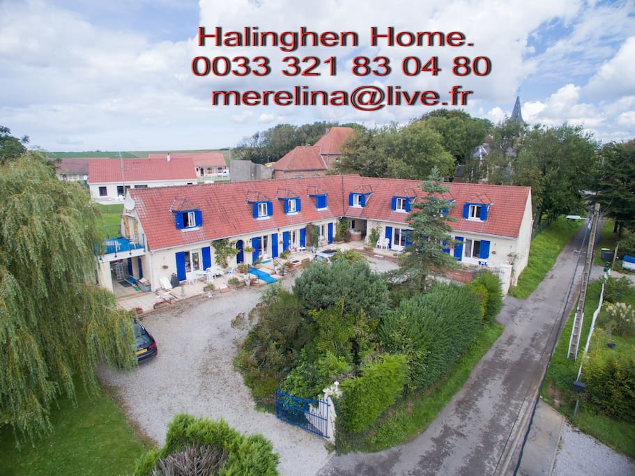 Halinghen from the air!