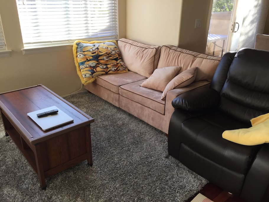 One couch and a recliner