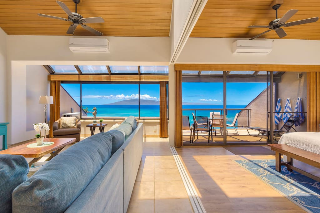 Living Room with gorgeous views & open to the master.  Each with individually controlled A/C.