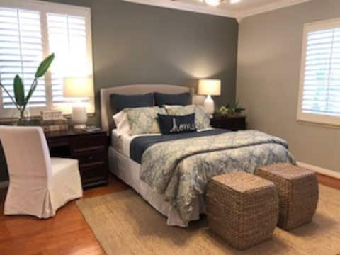 Newly remodeled large bedroom.