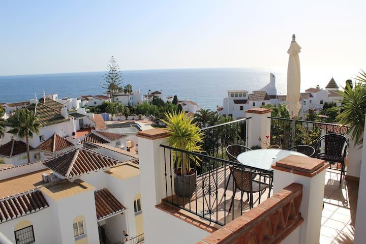 Playa Burriana, stor terrass, havsutsikt, pool