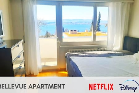King size bed 2x2m, amazing view over lake & city