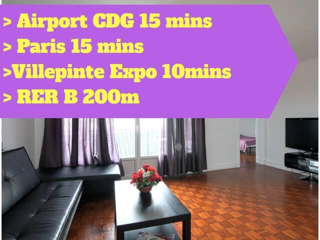 Airport CDG/ Paris / Aulnay-sous-Bois/Villepinte