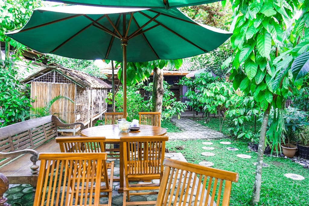Usually people have stay at hotel that give modern environment. But, we choose not. We believe there are many people miss the nature environment
