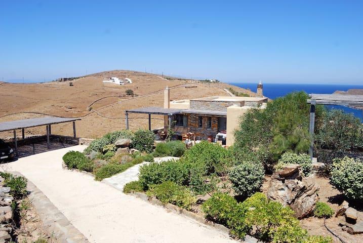 Cozy elegantly furnished villa 130m2 on Kea island