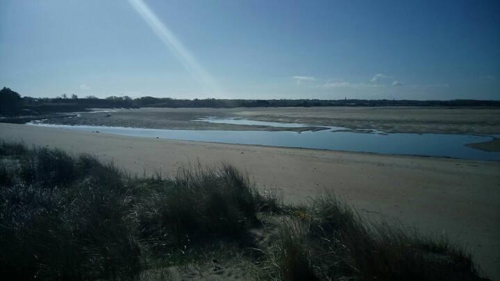 Chambre au pied des dunes