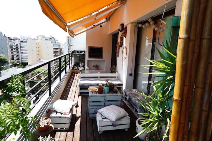 Private Terrace Apartment in Palermo