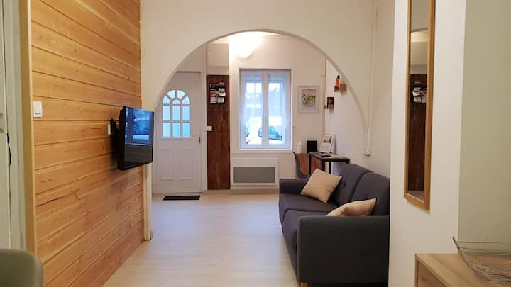 House with one bedroom in Saint-Amand-les-Eaux, with wonderful city view and WiFi