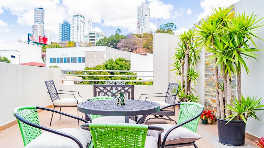 Modern Centric Luxury Apt w/ Private & Rooftop Terrace