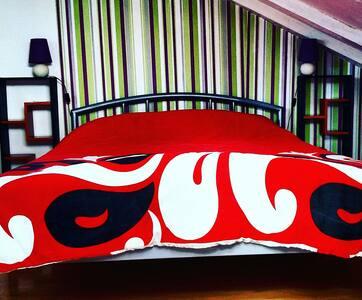 Cozy bedroom in a urban home
