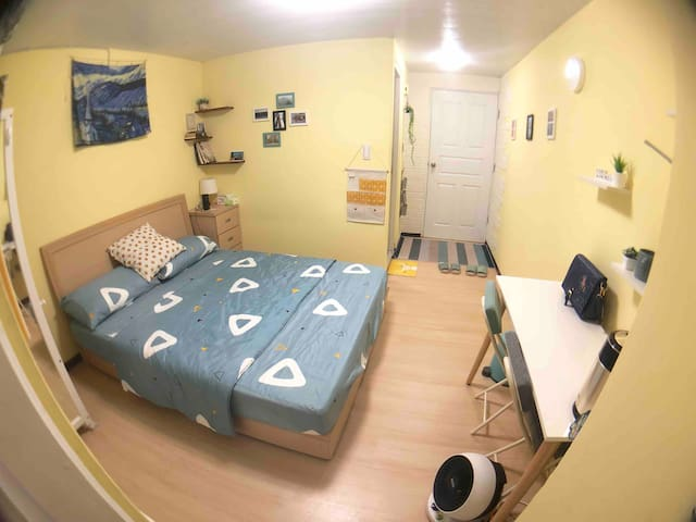 Yi's cozy room near Tamsui MRT 近淡水站溫馨兩人房(獨立衛浴)