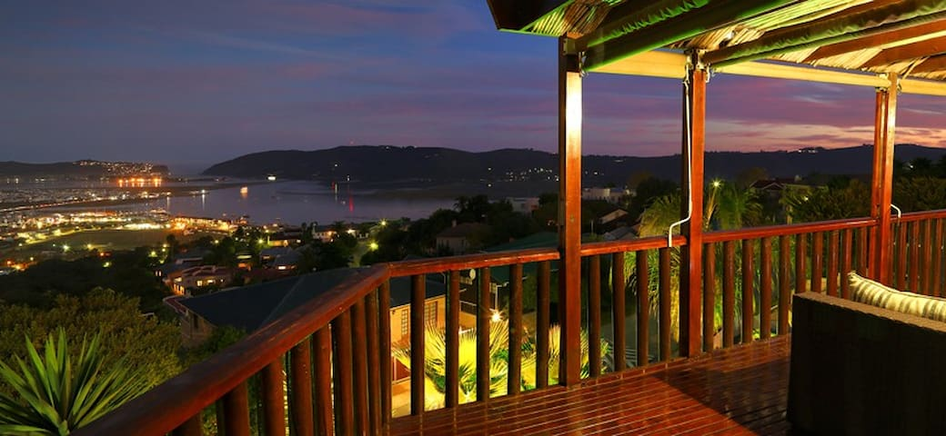 Day and night you'll have amazing views of the Knysna Lagoon!