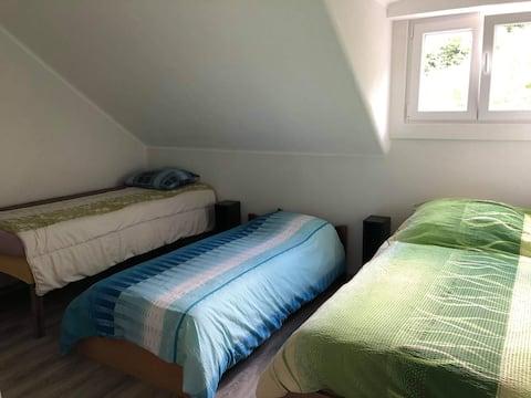 Affordable room 30 francs per person