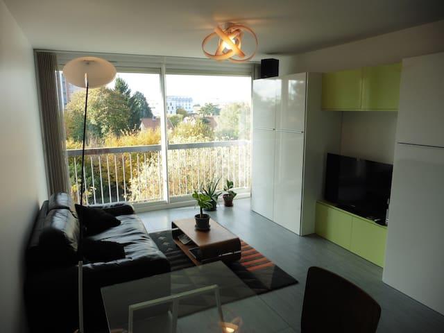 Chambre dans bel appartement en résidence - Caluire-et-Cuire - Apto. en complejo residencial