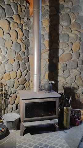 Forced air heat plus 2 gas stoves for winter warmth