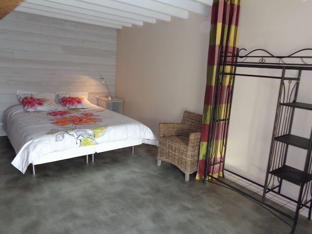 espace et calme pour cette chambre de 20m², sdb privative