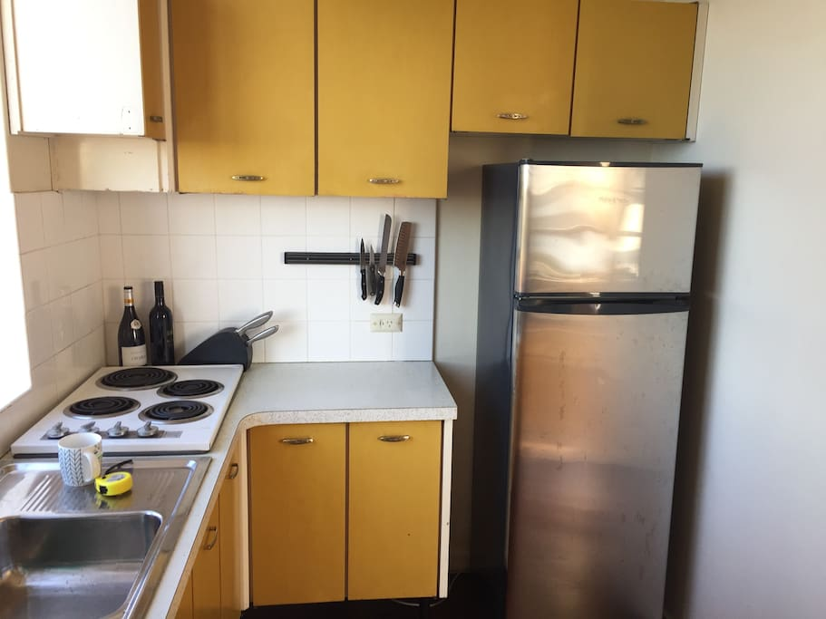 Kitchen - Older pre renovation style, but full equipped with everything you need for your stay.