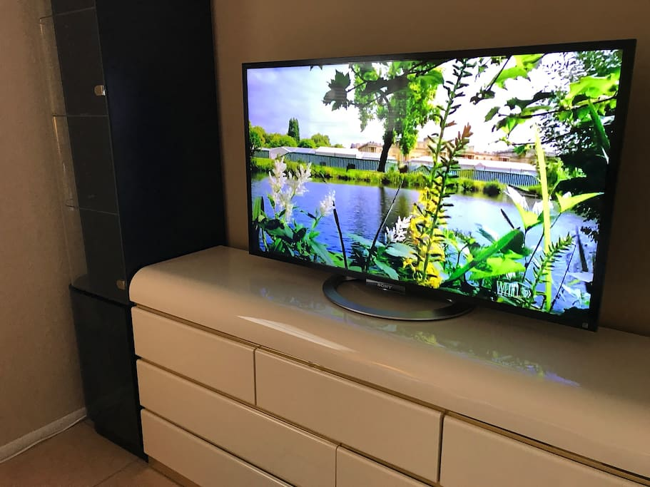 """47"""" smart TV. Watch any movie or any TV show on Netflix, Hulu, Tubi Tv, YouTube, Crackle, and much more..."""