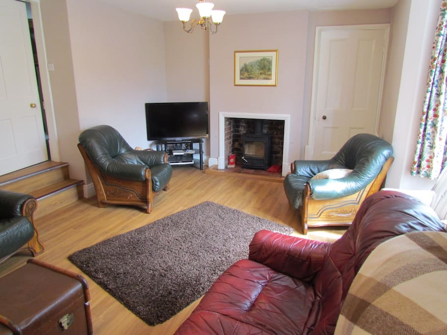 The living room with log burner