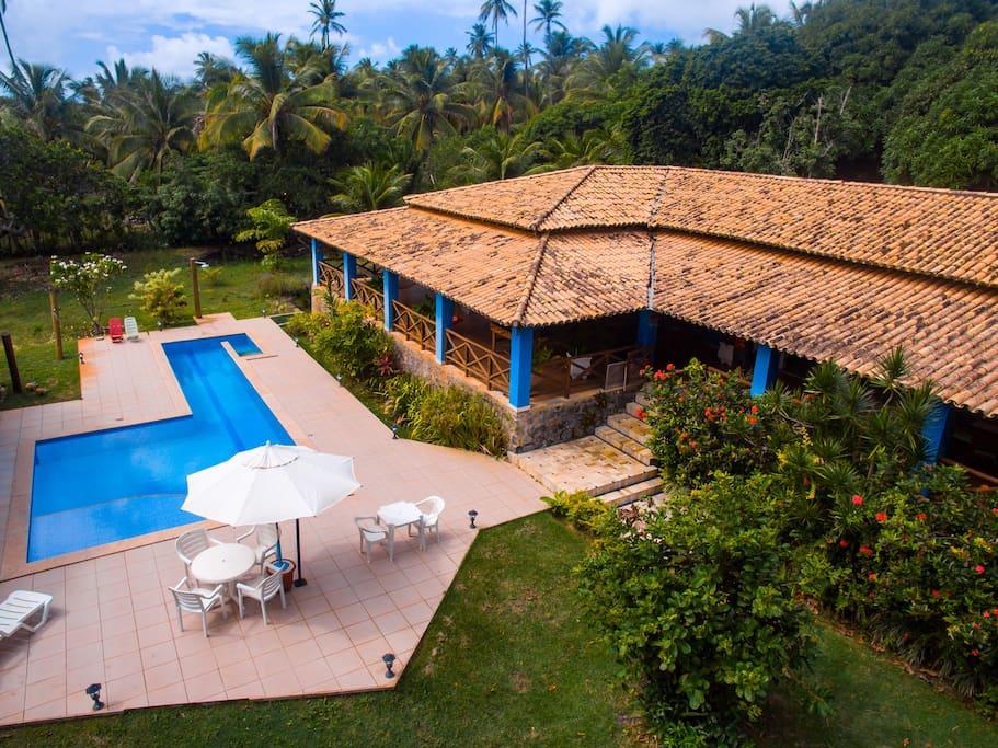 A casa vista de drone