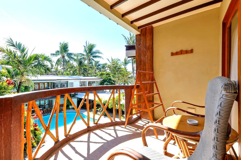 A Poolside Room, just steps away from White Beach Station 2.