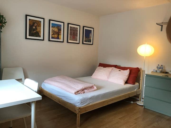 Room & ensuite bathroom near Ghent