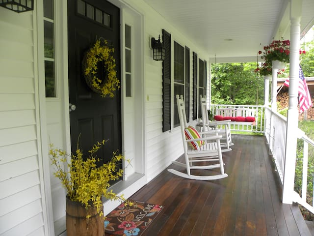 Entry door and front porch