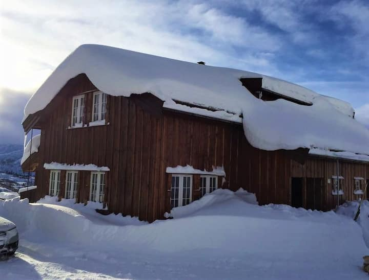 Hytte ved Haukeli skisenter og lysløype.