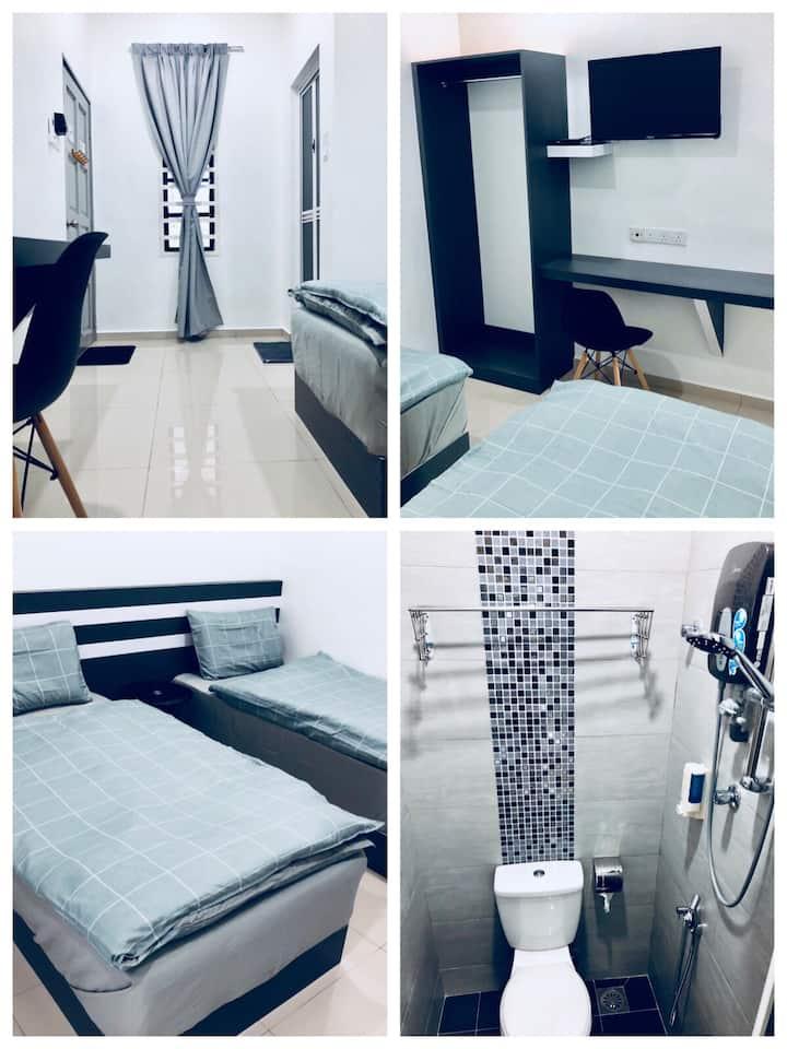 Deluxe Twin Room HH 2pax W-INN Kuantan Homestay