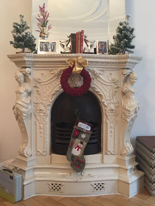 What a fireplace...
