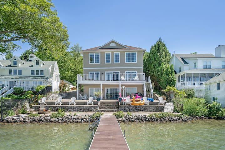 Luxury Lake House on Diamond Lake Michigan! WOW!