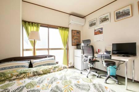 private room 2名様/ JR和泉府中駅7分/ 空港、市内30分/駐車無料/wi-fi/