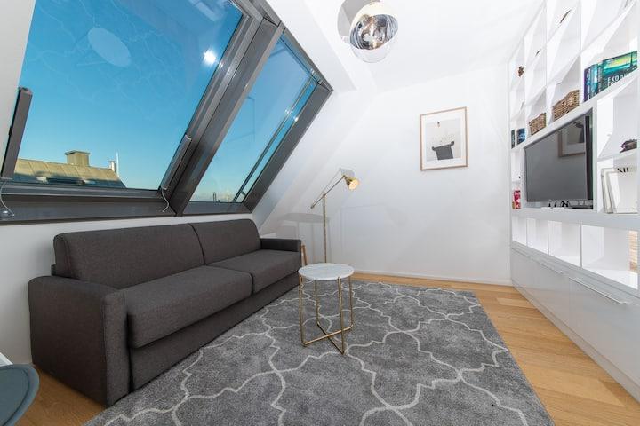 City loft with balcony