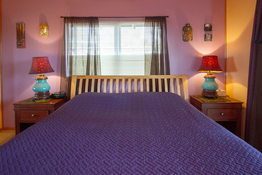 Hoku Suite with a comfy king size bed, private bath and patio area