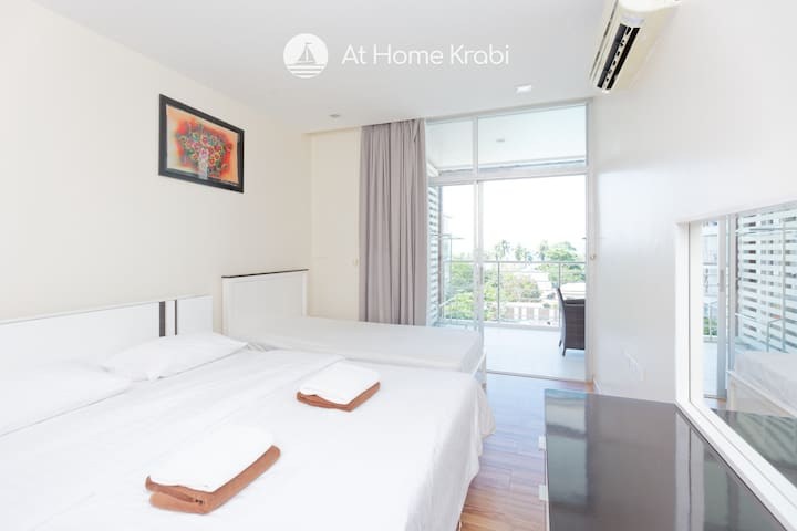 Main Bedroom with King bed & single bed