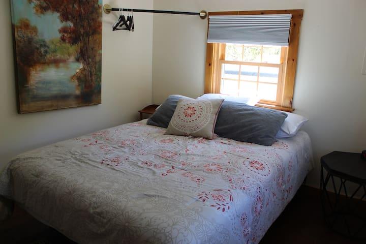 Queen bed upstairs second   bedroom