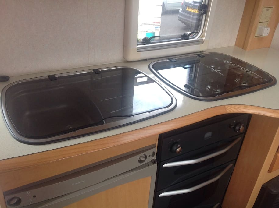 Gas hob and sink