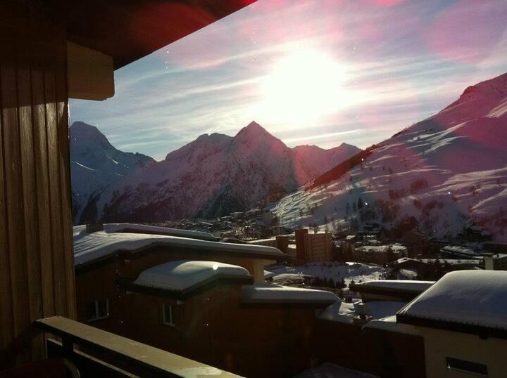 Les 2 Alpes: logement avec une vue imprenable