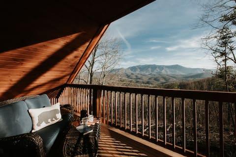 NYTT! Modern utsikt över bergen | 3 mil till Gatlinburg