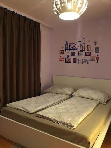 Warm style room near train station