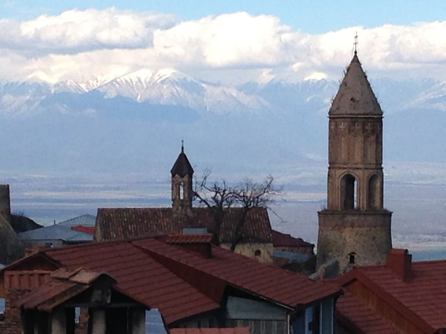 View of the Southern Caucasus mountains from the house.