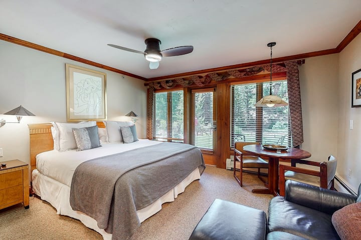 Ski-in/out, luxury lodge room w/ high-speed WiFi & shared pool/hot tub/laundry!