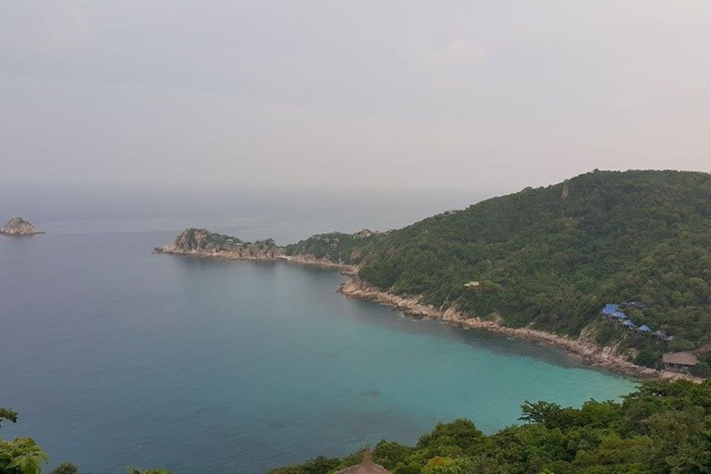 The best view point on Koh Tao called Blue Heaven Restaurant Sea View