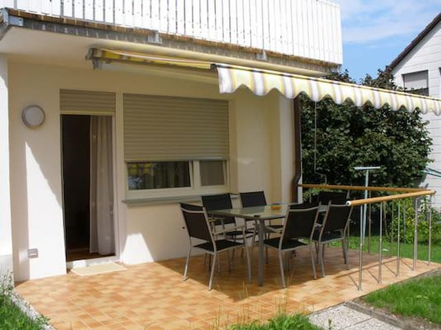 Comfortable and high-quality equipped apartment with beautiful, furnished terrace and beautifully landscaped garden