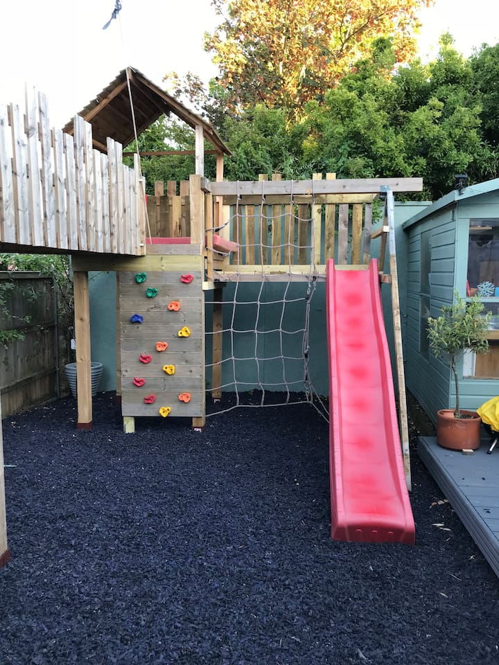 Back Garden - Fort and Slide